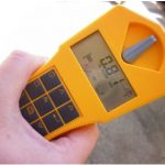 Picture of visual detection of .81 uS/Hr on Gammascout Geiger Counter Dunedin New Zealand