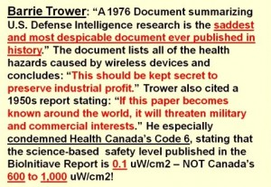 Barrie Trower 1977 document